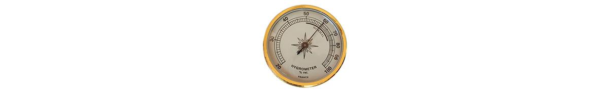 Luftfuktighet mäts med hjälp av en hygrometer